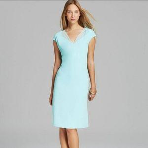NWT Calvin Klein Aqua Shift Dress Size 12